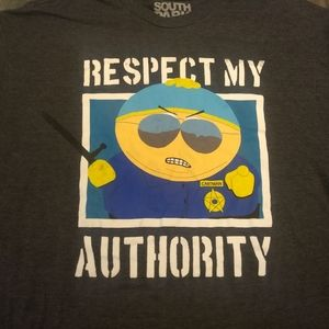 comedy central Shirts - SOUTH PARK OFFICER CARTMAN T-Shirt - Funny TV Tee